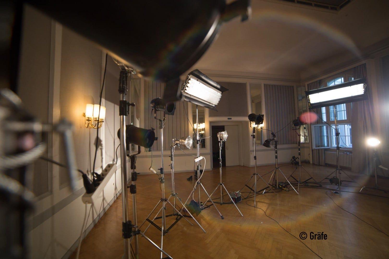 Lichtset bei der Musikvideo Produktion Berlin